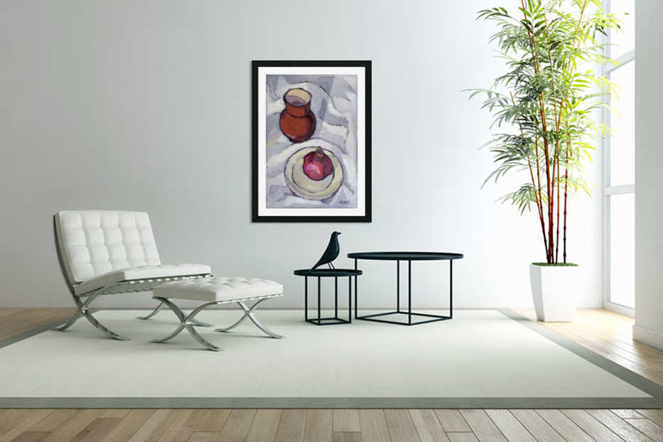 Still Life with Pomegranate in Custom Picture Frame