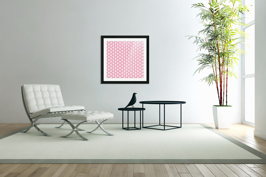 Pink Seamless Pattern Artwork in Custom Picture Frame