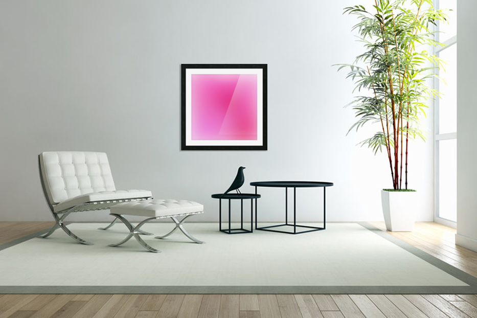 Rose Gradient Background in Custom Picture Frame