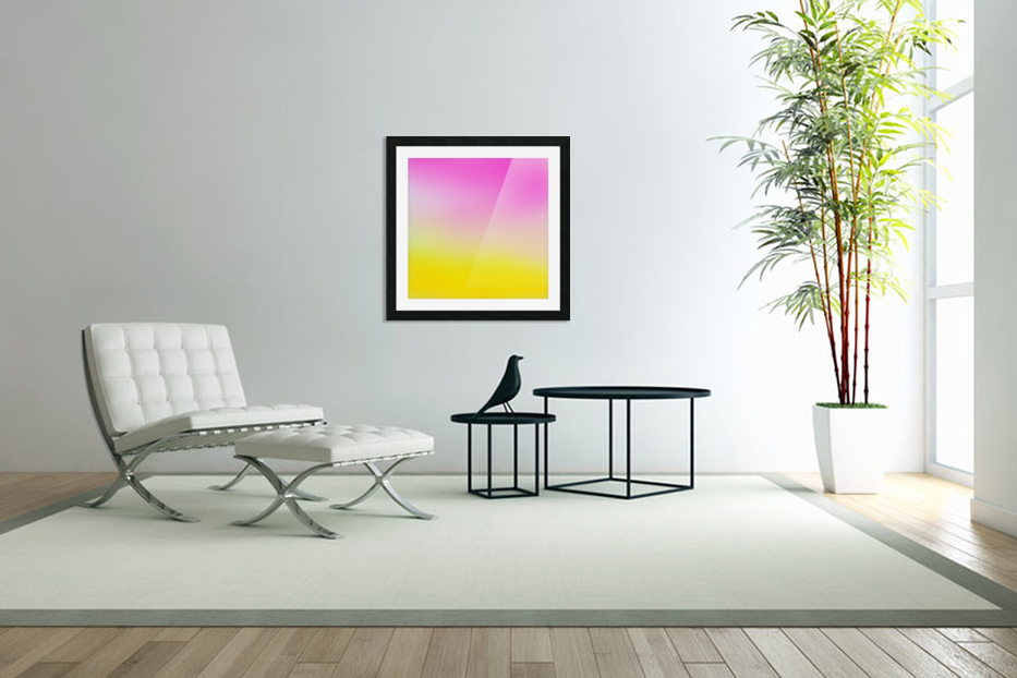 pink to yellow Gradient Background in Custom Picture Frame