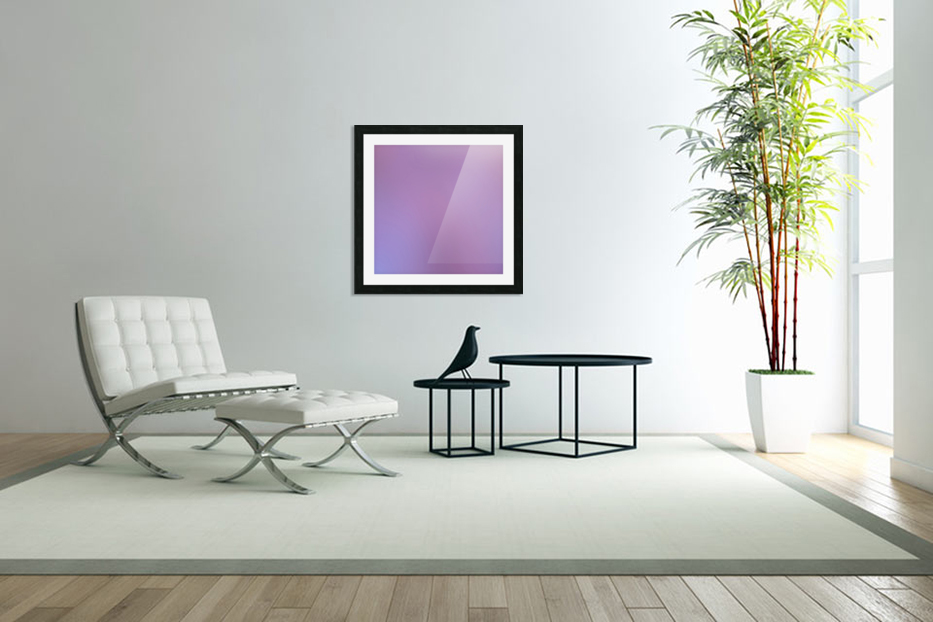 Pink Blurred Background in Custom Picture Frame