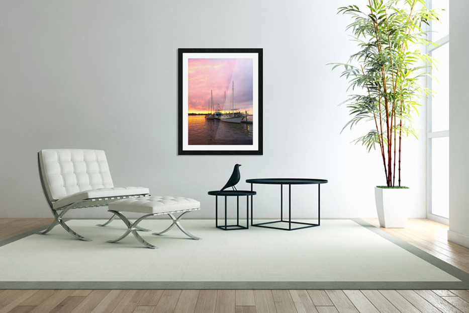 Sunset Sailboat in Custom Picture Frame