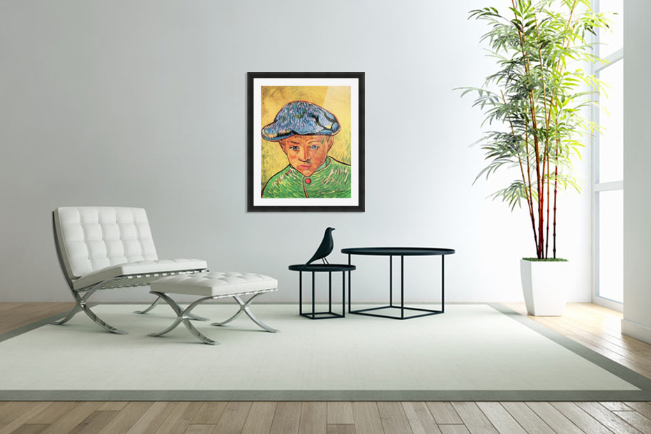 Camille Roulin by Van Gogh in Custom Picture Frame