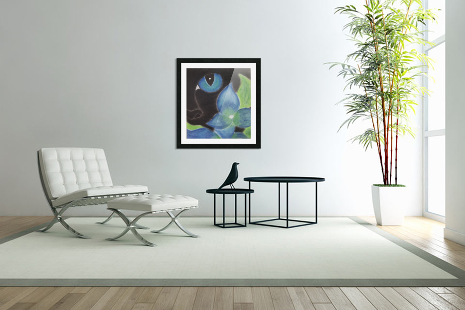 Mystery Cat in Custom Picture Frame