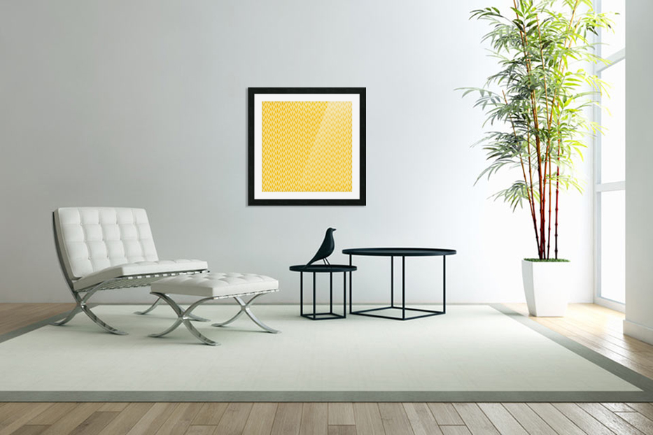 Yellow Flora in Custom Picture Frame