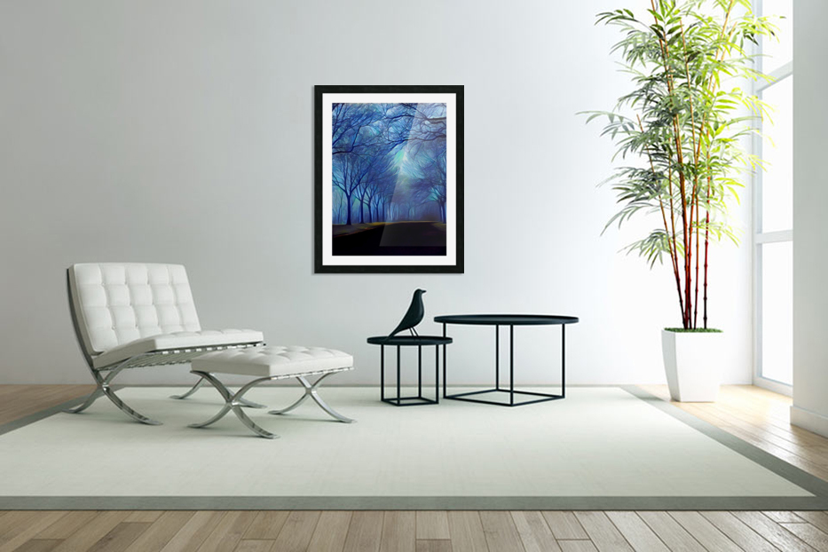 study in blue in Custom Picture Frame