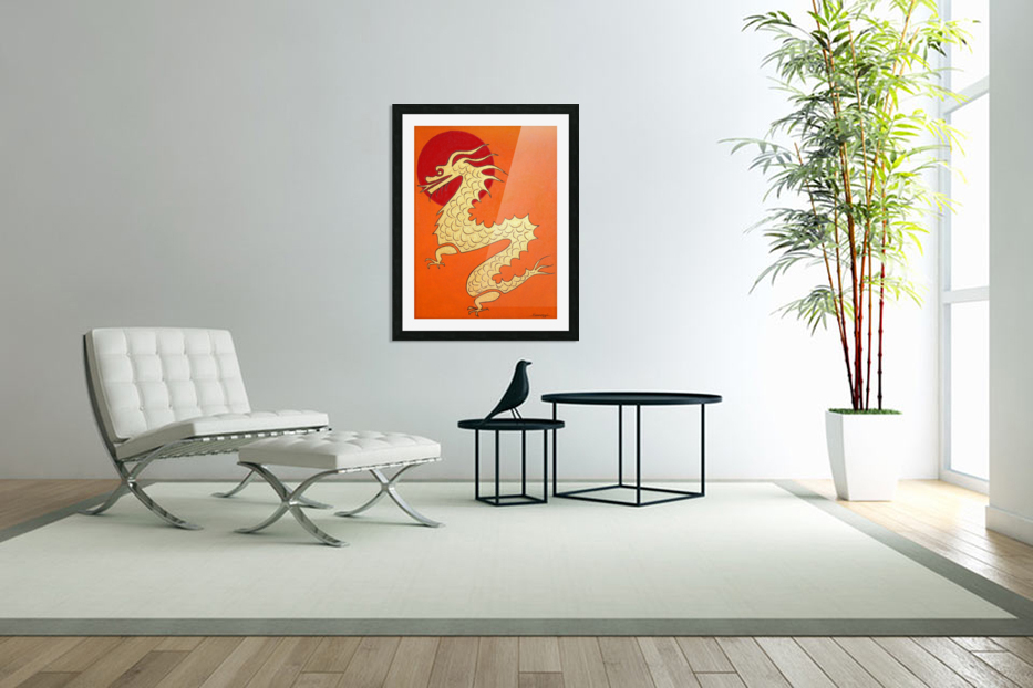 Asian Dragon Icon No.1 in Custom Picture Frame