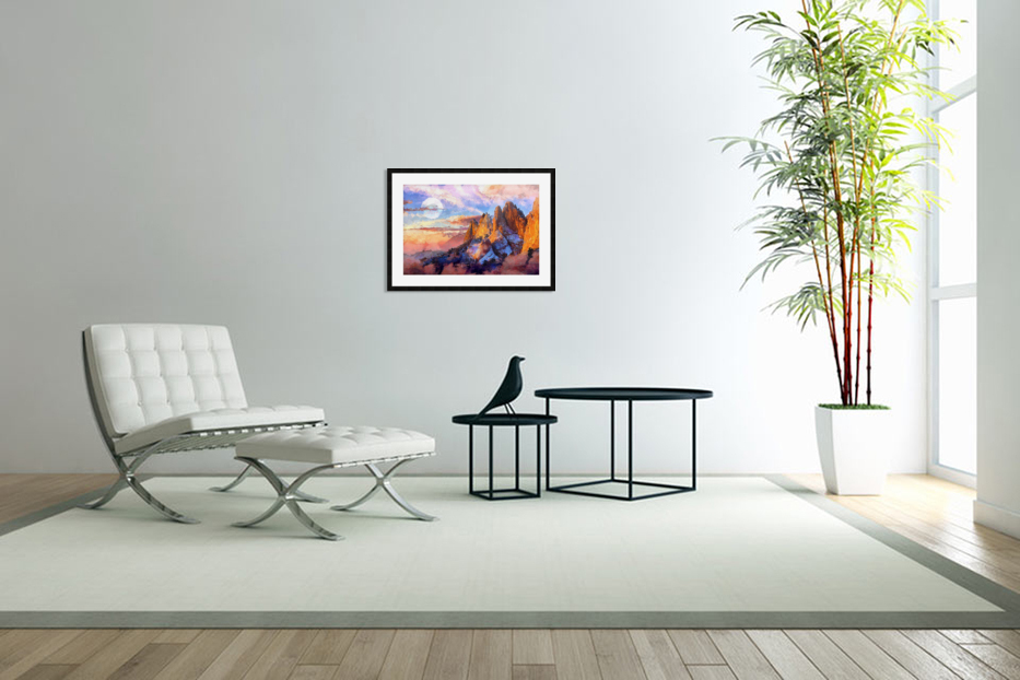 Colorado Mountains - Digital Painting III in Custom Picture Frame