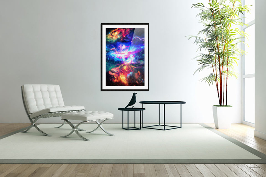 Colorful Galaxy  in Custom Picture Frame