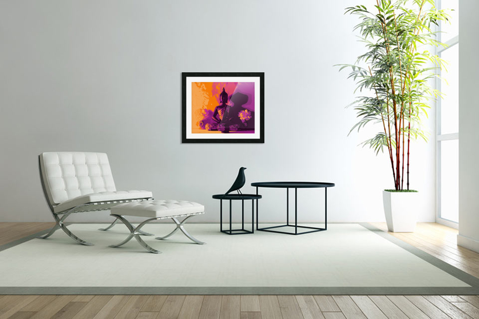 Buddha Altar -- Sunset Colors in Custom Picture Frame
