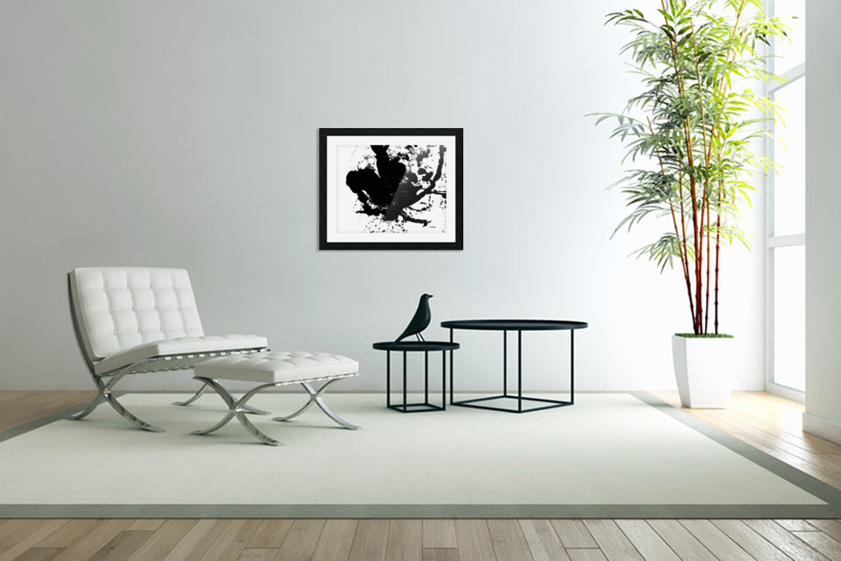 Surprise Black and White in Custom Picture Frame