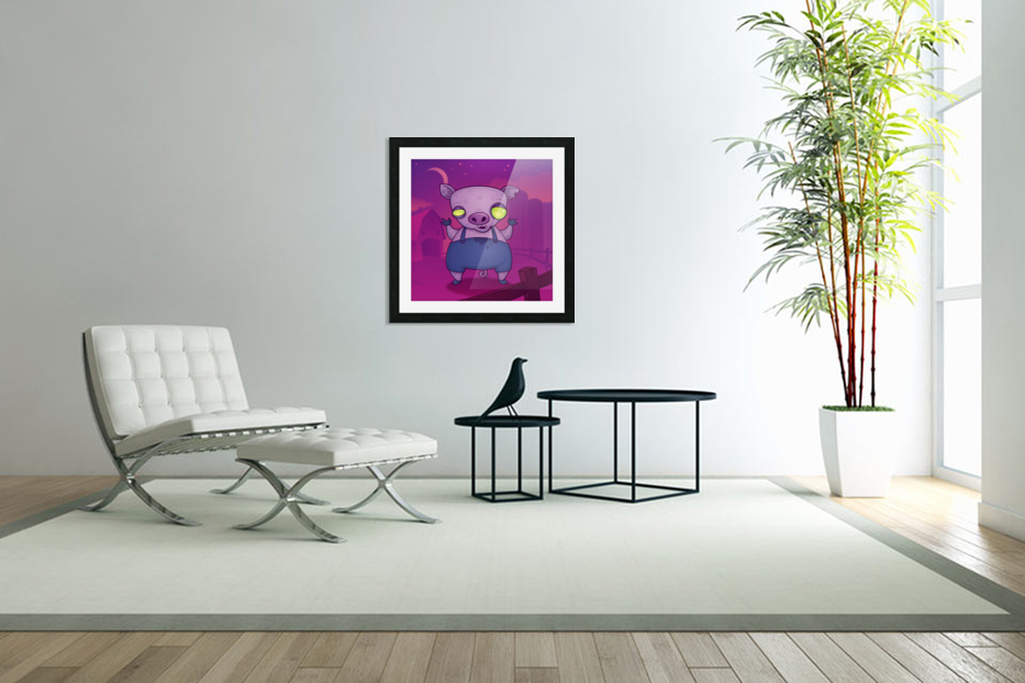 Zombie Pig in Custom Picture Frame