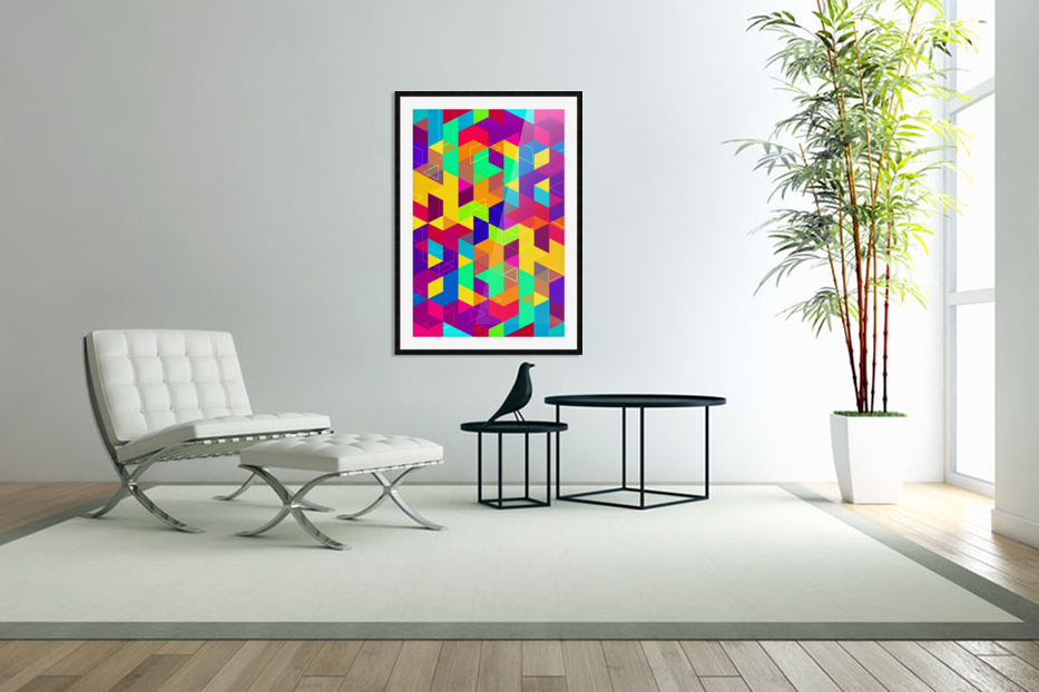 Pattern LXXX in Custom Picture Frame