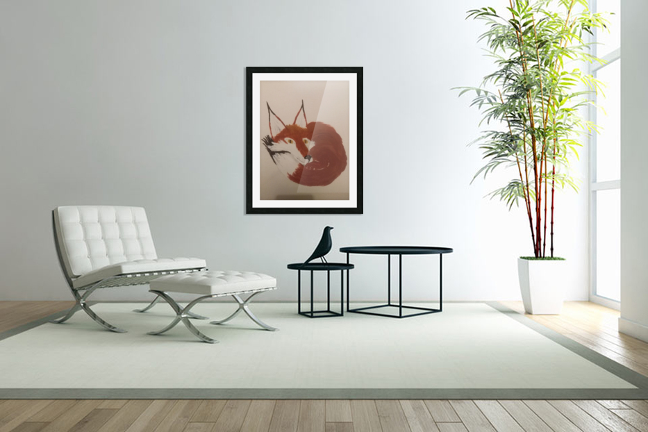 Red Fox in Custom Picture Frame