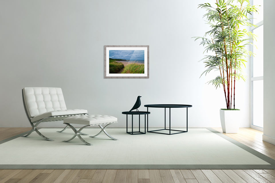 Sand and Grass in Custom Picture Frame
