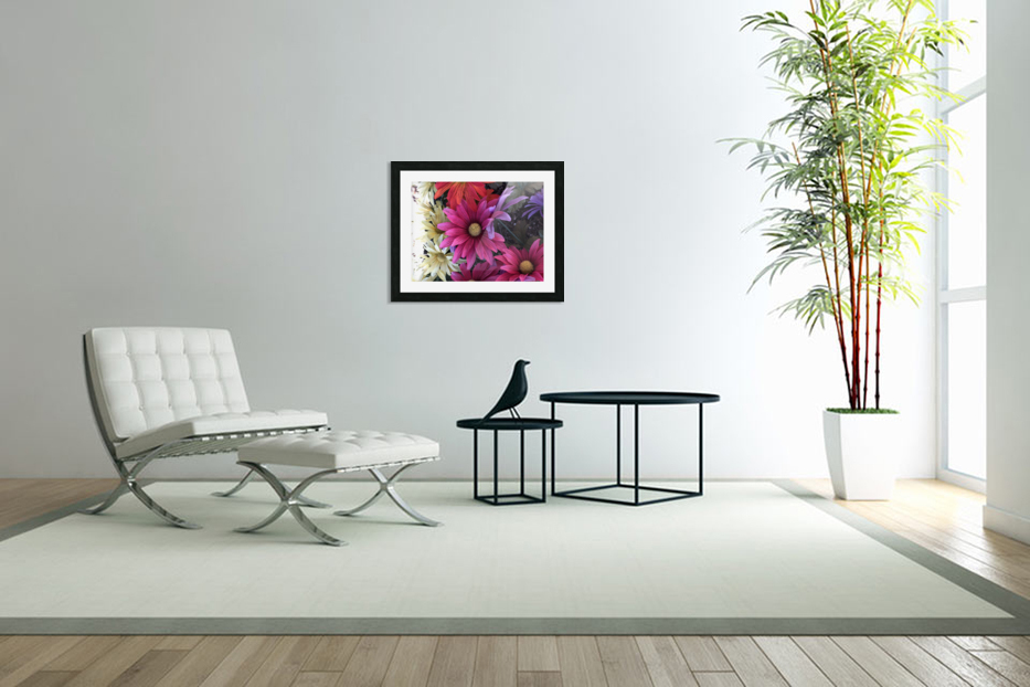 Rainbow of flowers in Custom Picture Frame