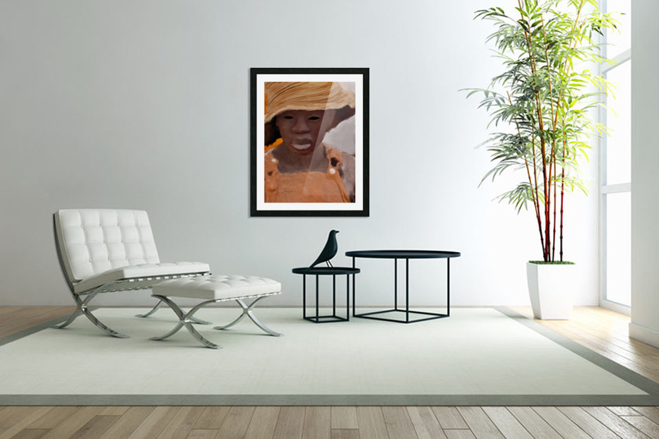 Whitney Plantation Slave Girl 1 in Custom Picture Frame