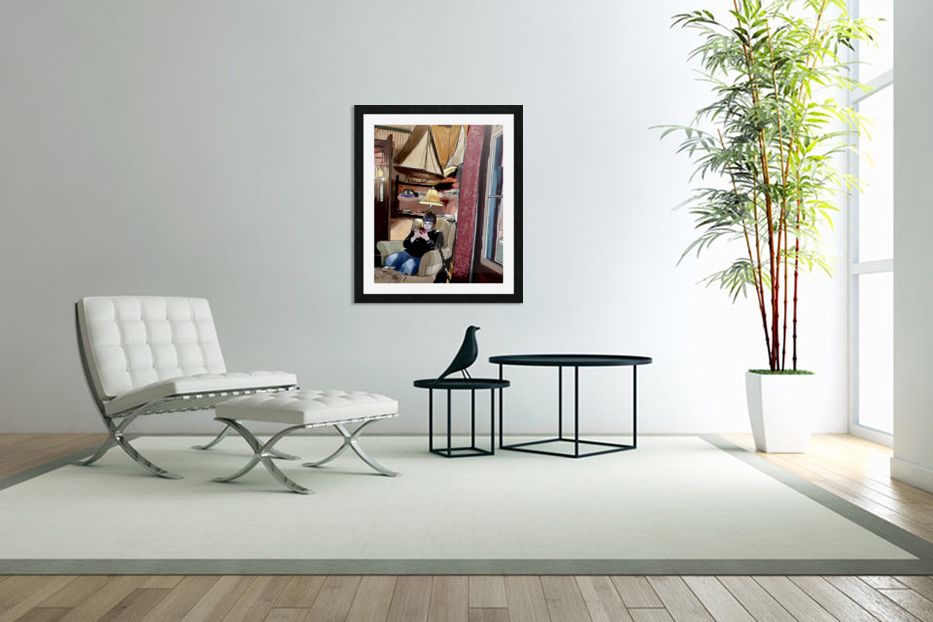 The Hedges Reading Room in Custom Picture Frame