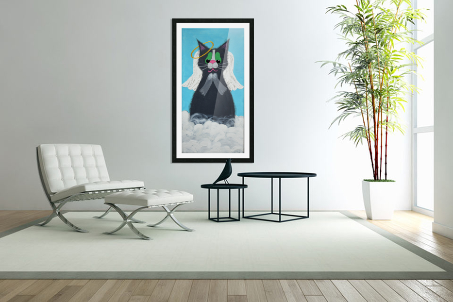 Angel Cat. Heather S. in Custom Picture Frame