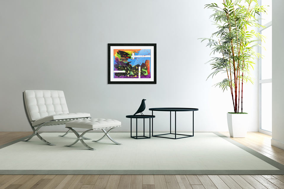 Bright Abstract. Walker W. in Custom Picture Frame