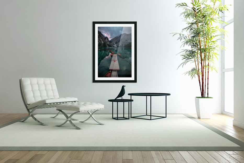 Braies reflections in Custom Picture Frame