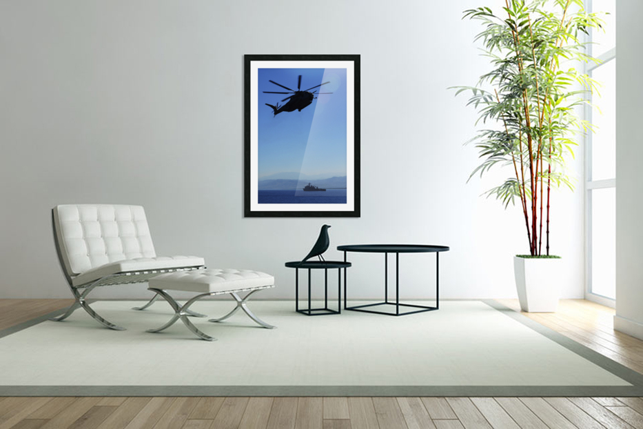 A CH-53E Super Stallion helicopter. in Custom Picture Frame