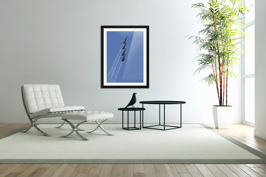 U.S. Navy flight demonstration squadron the Blue Angels. in Custom Picture Frame