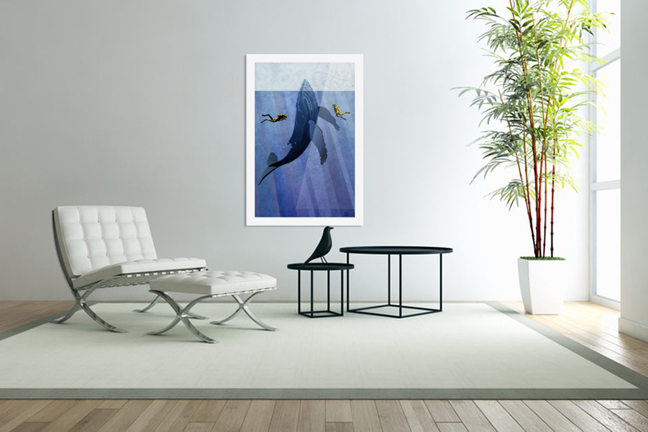 Scuba Dive with Whale in Custom Picture Frame