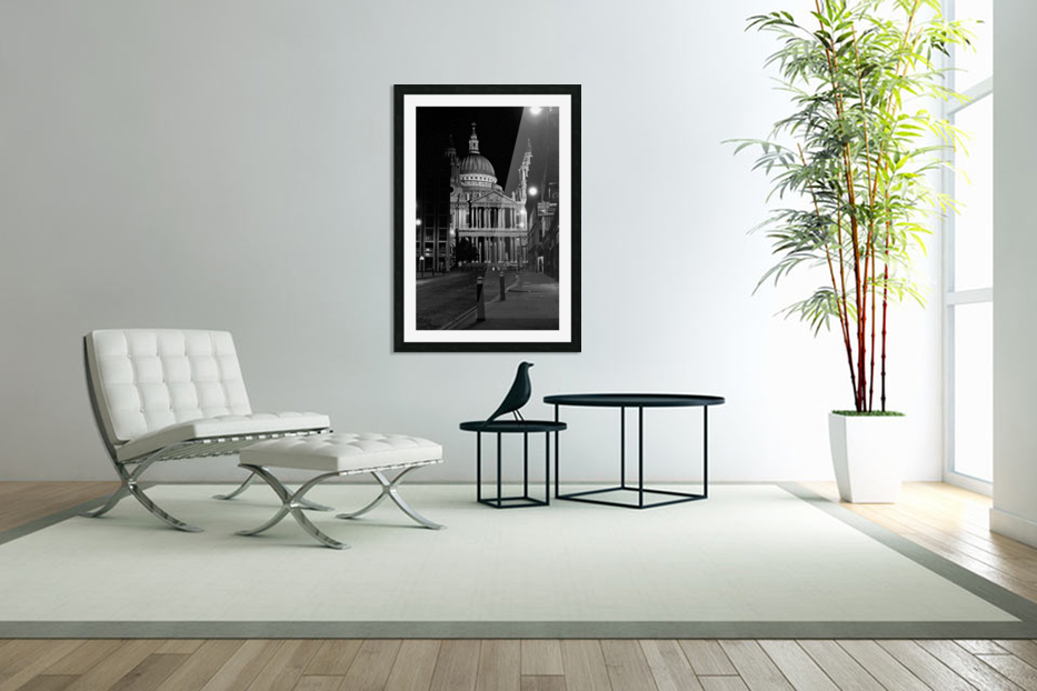St. Paul's Cathedral London in Custom Picture Frame