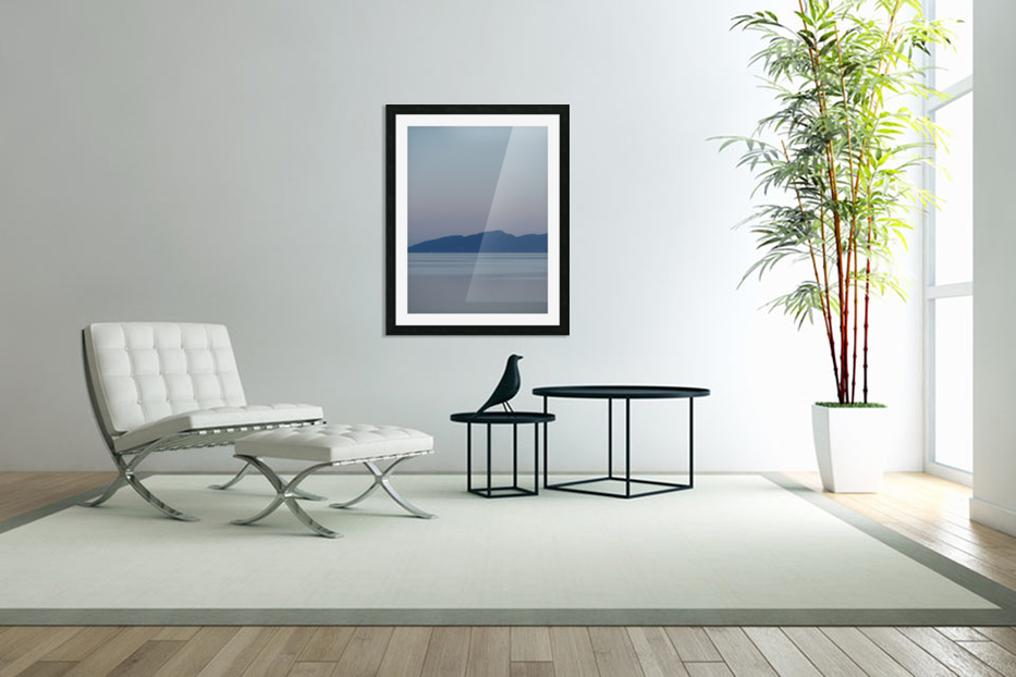 Evening at Transfer Beach in Custom Picture Frame