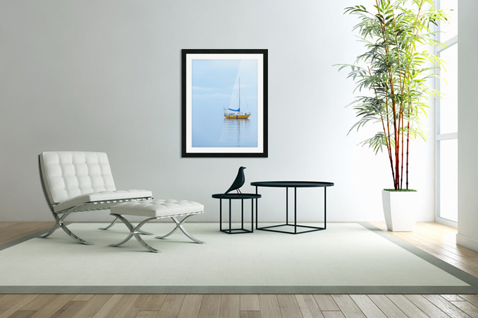 Where the ocean meets the sky in Custom Picture Frame