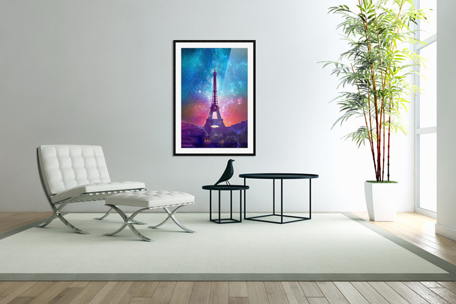 Eiffel Tower - Milky Way Collage in Custom Picture Frame