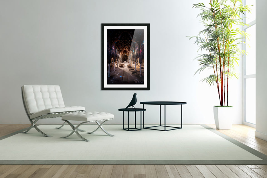 Abandoned Gothic Cathedral in Custom Picture Frame