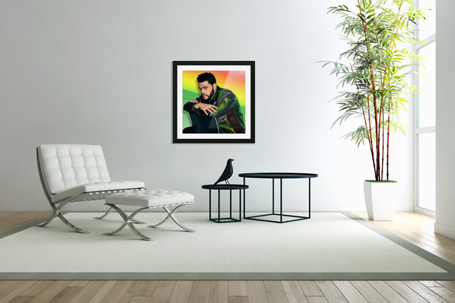 The Weeknd in Custom Picture Frame