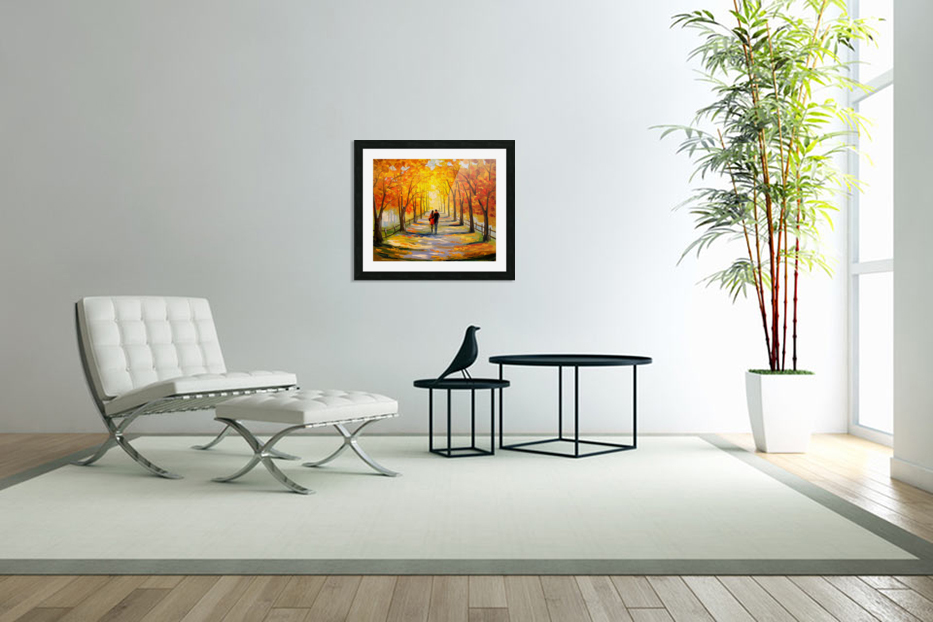 A walk in sunny weather in Custom Picture Frame