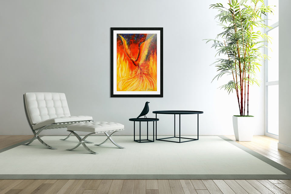 Phoenix bird in Custom Picture Frame