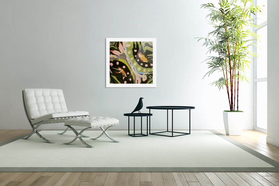 Tropical Branch Bamboo in Custom Picture Frame