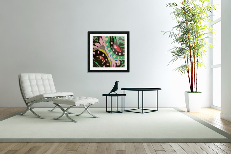 Tropical Branch Jade in Custom Picture Frame