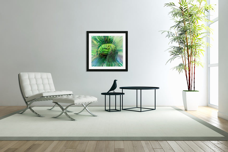 Electronic Brain in Custom Picture Frame