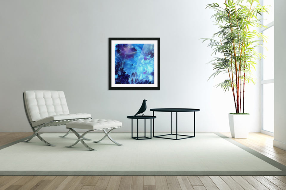 Abstract Blue Colors in Custom Picture Frame