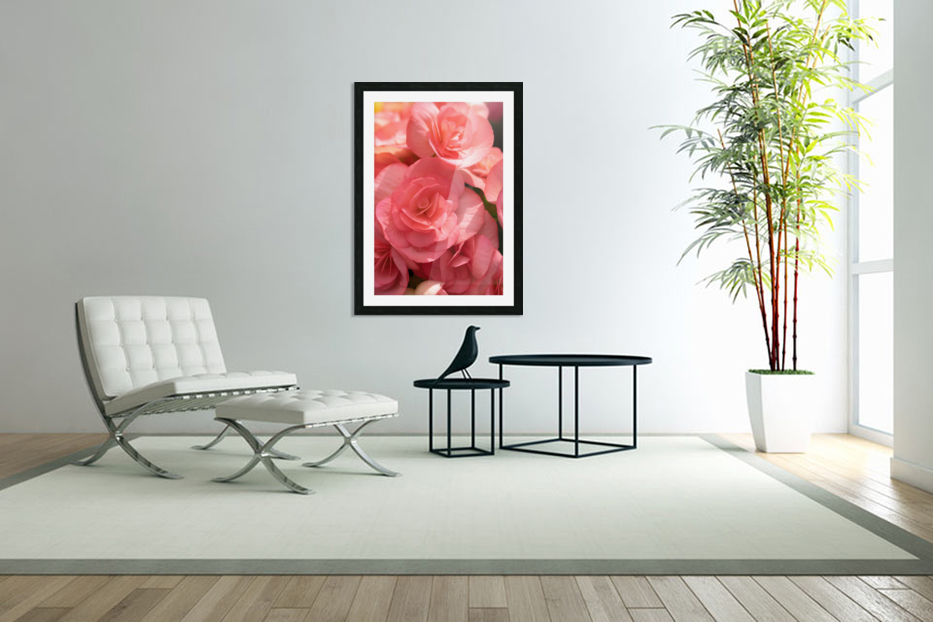 Pink pastel flower in Custom Picture Frame