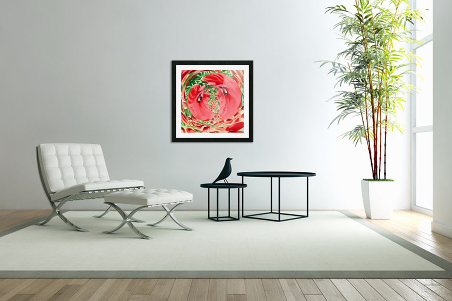 Coquelicots in Custom Picture Frame