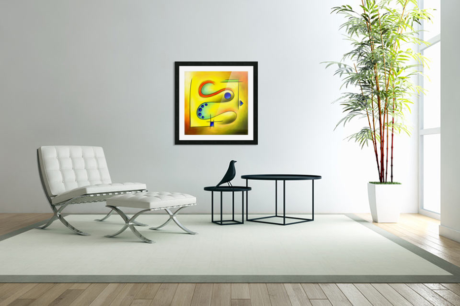 Nerive mosa - frozen snake in blue orange valley in Custom Picture Frame