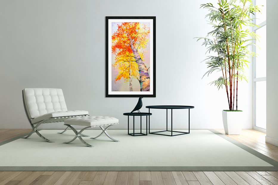 Heavenly birches in Custom Picture Frame