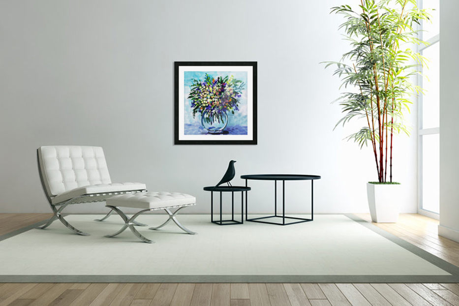 Impressionistic Flowers Burst Of Beauty in Custom Picture Frame