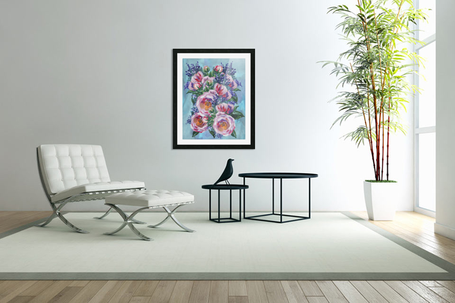 Beautiful Impressionistic Flowers in Custom Picture Frame
