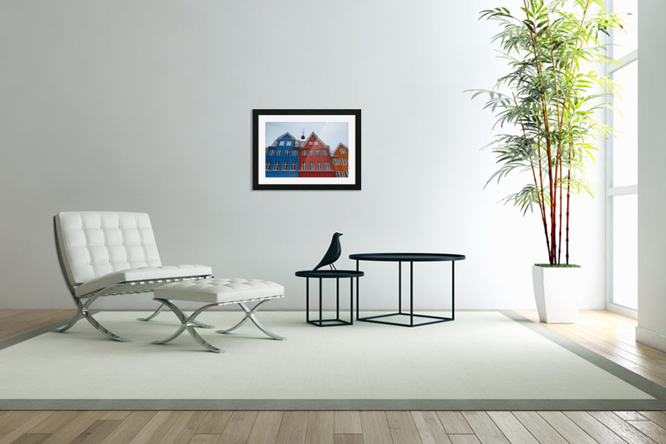 The red and blue house in Copenhagen in Custom Picture Frame