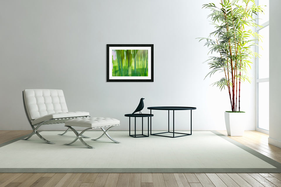Moving Trees 12 Green Landscape 52-70 360px in Custom Picture Frame