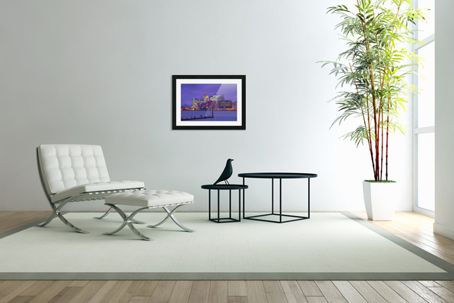 LON 007 Canary Wharf  in Custom Picture Frame