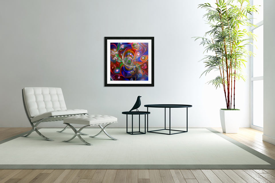 Vortex of Colors in Custom Picture Frame